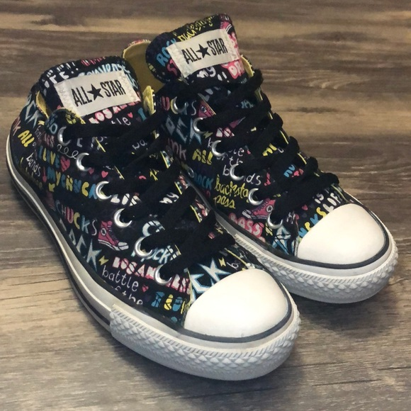 Converse All Star Rock Graffiti Chuck Taylors Low